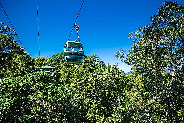 product image for Visit Kuranda: Skyrail up / 2pm Train back