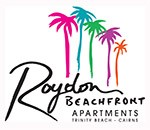 Homepage link and logo for Roydon Beachfront Apartments