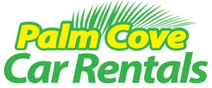 Homepage link and logo for Palm Cove Car Rentals