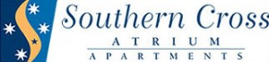 Homepage link and logo for Southern Cross Atrium Apartments